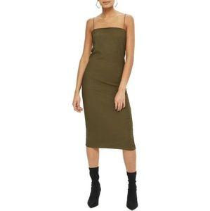 NWOT Topshop Square Neck Body-Con Midi Dress 6